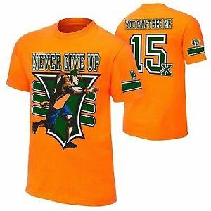 John Cena Orange 15x Never Give Up Mens T-shirt