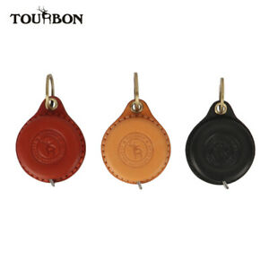 TOURBON Pocket Tape Measure Ruler 60 inch/1.5m Soft Body Ruler with Leather Case