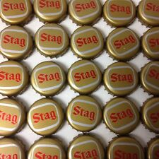 Lot Of 100 Stag Beer Bottle Caps No Dents Gold Caps With Red Lettering