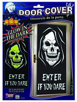 Glow In The Dark Skull Door Cover Posters Indoor Grim Reaper House Decorations