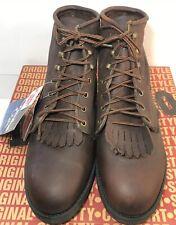 "Vtg Durango Boots Mens USA Made Steel Toe FR375 Slip-On 6"" Work Boots 11.5 EE"