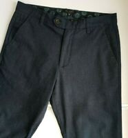 TED BAKER MENS CHINO TROUSERS W30 L32 BLUE BLACK MIXED 301