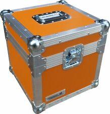 "Flight Case Swan 12"" Single LP 100 Vinyl Record Box (Orange Rigid PVC)"
