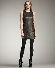 Vince Leather Tunic Dress Size 8 $895