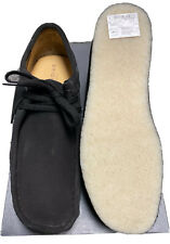 Clarks Originals, Wallabee, Black Suede, Size 12 UK