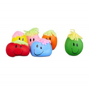 Relaxdays 6 cm Stress Ball, Funny Faces Anti-Stress Squeezer, For Kids and