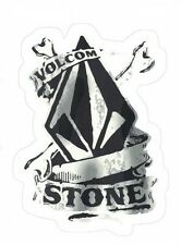"VOLCOM STICKER ~ 3.75"" Snowboard Skateboard BMX Skate Surf Black & White  NEW"