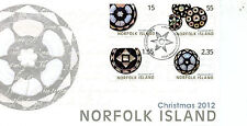 Norfolk Island 2012 FDC Christmas 4v Set Cover Stamps