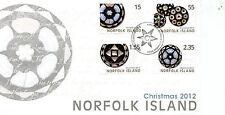 Norfolk Island 2012 FDC Christmas 4v Set Cover Stamps
