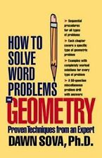 How to Solve Word Problems in Geometry by Dawn B. Sova (1999, Paperback)