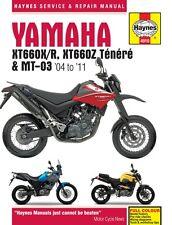 HAYNES WORKSHOP REPAIR MANUAL Yamaha XT660 X XT660R XT660Z Tenere MT-03 (04-11)