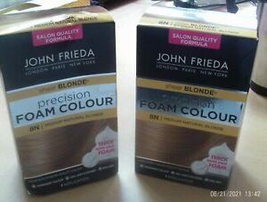 2 x John Frieda Precision Foam Colour Sheer Blonde 8N Medium Natural Blonde