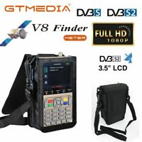 3.5'' GTMedia V8 Satfinder DVB-S2X FTA Digital Satellite Finder Signal Meter US