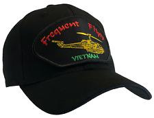 Frequent Flyer Vietnam Hat Black Ball Cap Vietnam Veteran Helicopter Pilot Bell