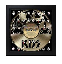 Kiss Laser Cut Record With Poster Art Shadowbox C3