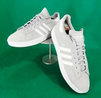 Adidas CAMPUS men's gray SUEDE casual lace up low top sneakers shoes 12 leather