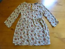 Women's ABOUT A GIRL BLOUSE Floral Gray XS Extra Small Made In The USA Designer