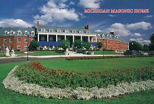 Michigan Masonic Home, 1200 Wright Avenue, Alma, MI, Flowers, Garden - Postcard