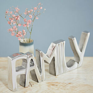 Handmade Recycled Steel FAMILY Decorative Sign