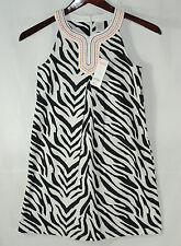 Gymboree Wild For Zebra Size 12 Girls Sleeveless Black White Dress New 2013