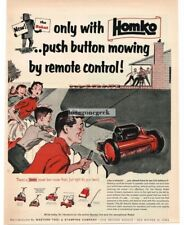 1954 Homko Remote Control Robot Lawn Mower Vtg Print Ad