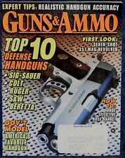 Magazine GUNS & AMMO August 1995 MARLIN Model 512 SLUGMASTER, SAKO TRG-S RIFLE