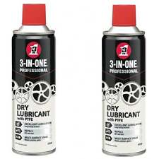 Dry Lube Oil Chain Bike Cycle 2 Cans Lubricant PTFE 3 in One 44174 Spray 400ml