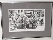 Framed Illustration Art L/E Signed ROBERT BROWN Old Movie Posters/Advertising NR