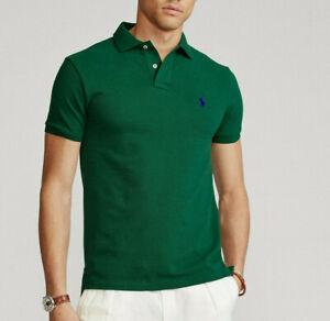 Mens Ralph Lauren Polo Shirt Slim Fit Genuine S M L XL XXL RRP £80 100% COTTON