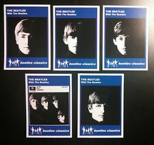 Set of 5 BEATLES CLASSICS trade cards - WITH THE BEATLES - Blue series