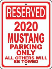 "2020 20 Mustang Ford Novelty Reserved Parking Street Sign 12""X18"" Aluminum"