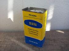 Vintage EMPTY tin Diana Gunpowder. Gun powder can. Polvore scatola Portugal