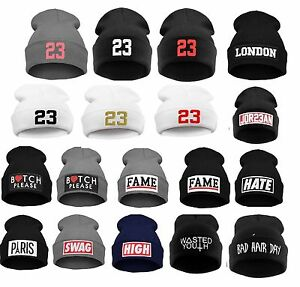 BEANIE HAT WASTED HATS Paris London  High Jordan Swag  Mustache  Moro Fame