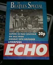 RARE Original The Beatles Special Poster ECHO Liverpool Promo