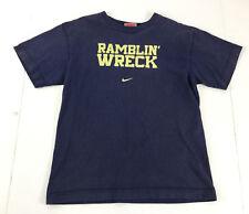 Georgia Tech Ramblin Wreck T-Shirt Nike Boys Medium Navy Buzz Bee 100% Cotton