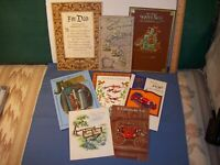 FATHER / HUSBAND Vintage greeting card  lot of 8 used