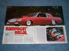"1981 Buick Regal Pro Street Drag Car Article ""Rampagin' Regal"""