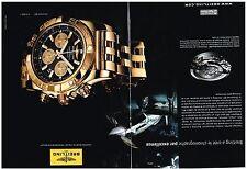 PUBLICITE ADVERTISING   2010     BREITLING    montre chronomat b01  (2 pages)