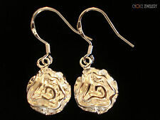 Sterling Silver Filled Flower Romantic Rose Earring Marked 925