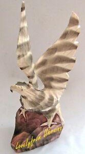 Hand Carved Handmade Animal Sculpture 100% Wooden Ukrainian Eagle Fashion Toys