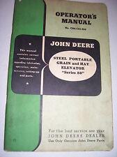 Vintage John Deere Operators Manual -# 50 Steel Grain & Hay Elevator