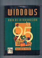 WINDOWS 95 GUIA DE INTRODUCCION ROSARIO PEÑA INFOR BOOKS EDICIONES MANUAL 1996