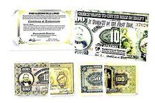 Two Greek Drachmai Half Banknotes,50 & 100 Drachmai With Folder & Story