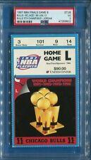 1997 CHICAGO BULLS 5TH CHAMPIONSHIP CLINCHING TICKET (JORDAN MVP) PSA SLABBED