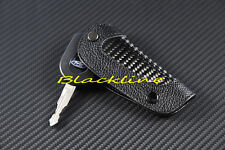 CARBON FIBER LEATHER REMOTE KEY COVER GLOVE For FORD Focus Mustang F-150 F 250