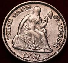 1872 Philadelphia Mint Silver Seated Liberty Half Dime