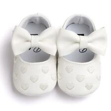 Newborn Baby Girl Soft Sole Leather Crib Shoes Anti-slip Sneakers Prewalkers US