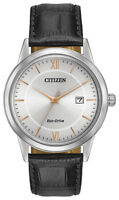 Citizen Eco Drive Men's Grey Dial Rose Gold Tone Markers 40mm Watch AW1236-03A