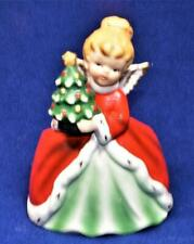 Vintage NAPCOWARE Japan CHRISTMAS GIRL ANGEL RED DRESS Figurine Planter #X-7260