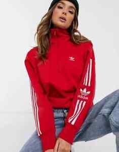 adidas Originals Lock Up Sweatshirt - Scarlet/White - Various sizes - RRP £55